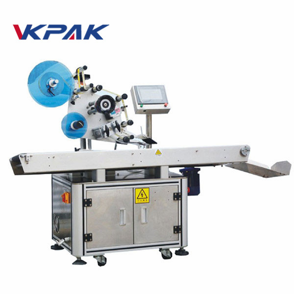 Servo Motor Touch Screen Flat Cup Cover Labelling Machine